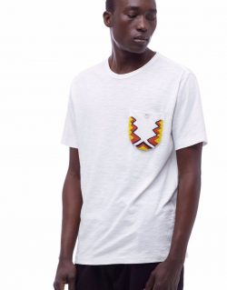YMC (You Must Create) Africa 70 Beaded Tee (White)