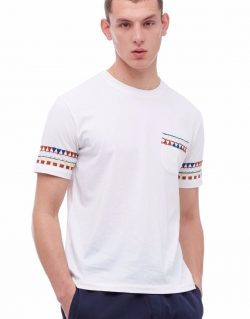 YMC (You Must Create) Wild Ones Embroided Pocket Tee (White)