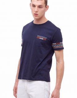 YMC (You Must Create) Wild Ones Embroided Pocket Tee (Navy)