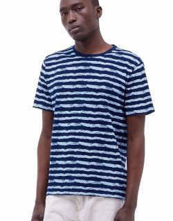 YMC (You Must Create) Wild Ones Indigo Stripe Tee