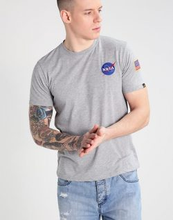 ALPHA INDUSTRIES SPACE SHUTTLE T (T-shirt Grigia )