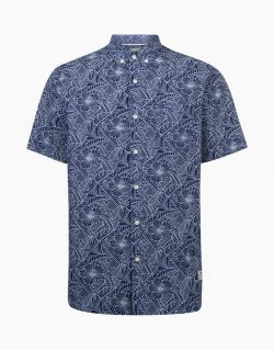 PENFIELD Mens CUYLER Line Leaf Shirt (Blue)