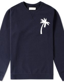 Universal Works – Embroidered Rglan Loopback Sweat in Navy