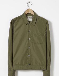 Universal Works – Uniform Shirt In Olive Cotton/Nylon