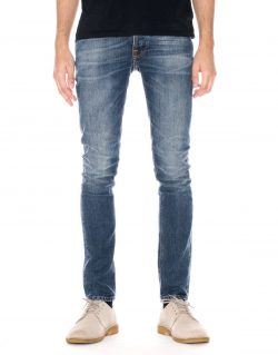 NUDIE JEANS – GRIM TIM – SHADED BLUE – MADE IN ITALY