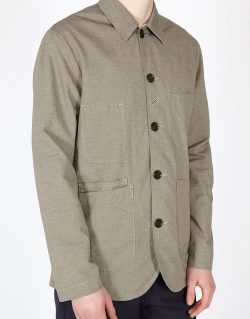 Universal Works – Bakers Jacket In Sand Micro Cotton