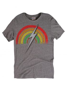 LIGHTNING BOLT -Rainbow Tee (Grey)