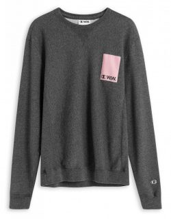 CHAMPION X WOOD WOOD – Hugo sweatshirt (Black melange)