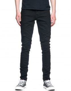NUDIE JEANS – TIGHT TERRY – DEEP BLACK – MADE IN ITALY