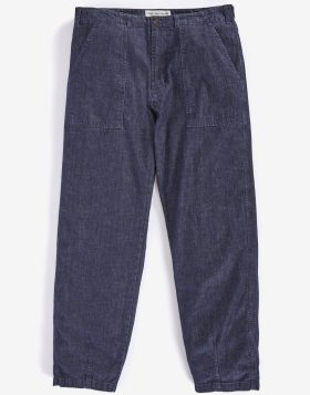 Universal Works – Fatigue Pant in Fall denim Indigo
