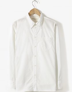 Universal Works – Point Collar Shirt In Ecru Poplin