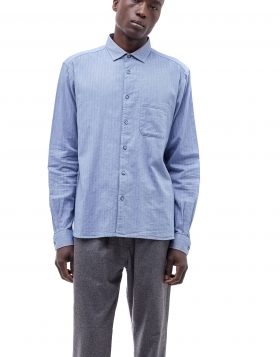 You Must Create – Herringbone Curtis Shirt (Blue)