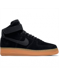 NIKE AIR FORCE 1 HIGH '07 LV SUEDE (Black/Black-Gum Med Brown) – AA1118001