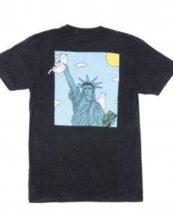 RIPNDIP – LIBERTY (T-shirt Nera mineral wash)