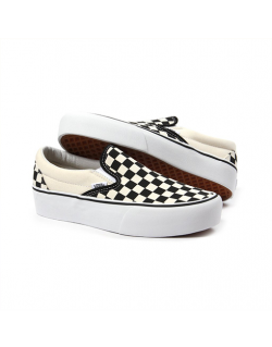 VANS – CHECKERBOARD CLASSIC SLIP-ON PLATFORM