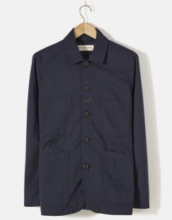 UNIVERSAL WORKS – Bakers Jacket In Navy Twill