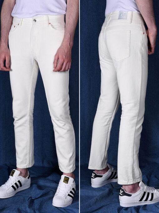 pantalone bianco vita alta