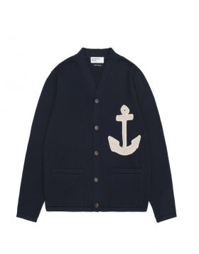 UNIVERSAL WORKS – Anchor College Cardigan in Navy