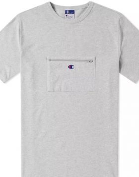 CHAMPION X BEAMS – Passport Pocket Tee (Grey) S8IFA3IT39