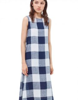 YOU MUST CREATE – Eileen Dress (Navy/Ecru)