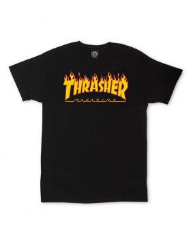THRASHER – Magazine Flame Logo T-Shirt (Black)