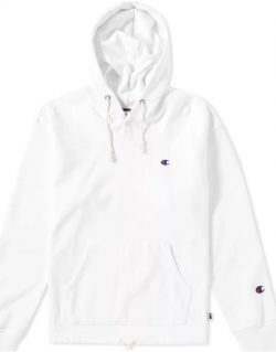 CHAMPION X BEAMS – North South East West Hoody (White) S8IFA3IT39