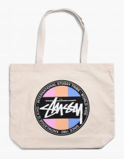 STUSSY Stock Dot Tote (Natural)