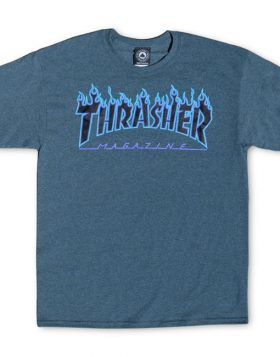 THRASHER – Flame Logo T-shirt (Dark Heather)