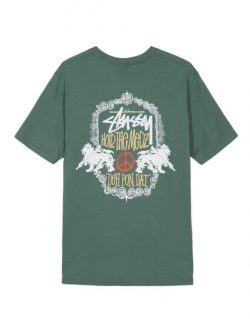 STUSSY – Lion Shield (T-shirt Verde)
