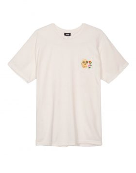 STUSSY – Calavera Pigment Dyed Pocket (T – shirt Natural)