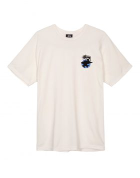 STUSSY –  Surfman Dot Pigment Dyed (T – shirt Natural)