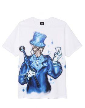 STUSSY – Joker Tee (T – shirt Bianca)