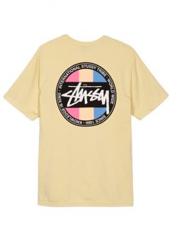 STUSSY – Surfman Dot Pigment Dyed (T- shirt Gialla)