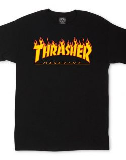 THRASHER – Magazine Flame Logo T-Shirt (Black)