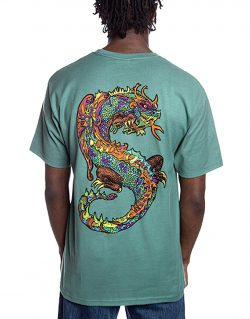 STUSSY- NEON DRAGON (T- shirt Sage)