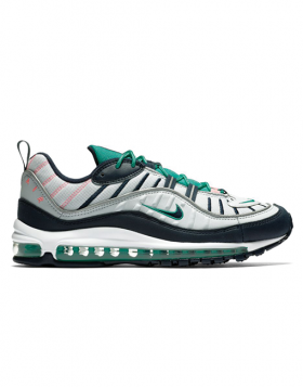 NIKE -AIR MAX 98 (Pure Platinum/Obsidian-Kinetic Green)