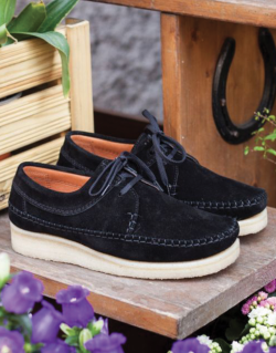 PADMORE & BARNES – ORIGINAL Willow Lite (Black Suede)