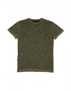 RIPNDIP – NERMAL LEAF PATTERN JACQUARD (Knit Olive)