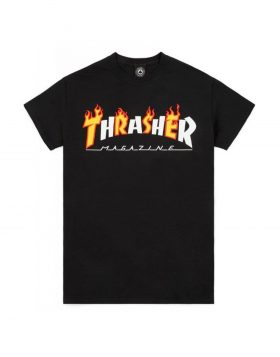 THRASHER – FLAME MAG (Black)