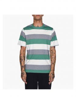 STUSSY – SIDNEY STRIPE CREW (T-shirt Olive)