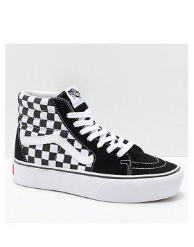 VANS – SK8-Hi Platform 2 (Checkerboard/True White)