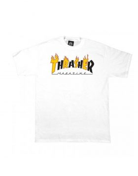 THRASHER – Flame Mag T-shirt (White)