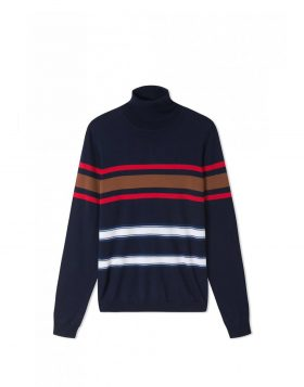 WOOD WOOD – Jaques Turtleneck (Navy stripes)