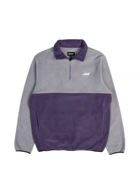 RIPNDIP – Castanza 3/4 Zip Up (Grey/Purple)