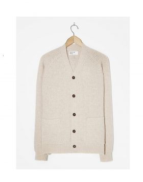UNIVERSAL WORKS – Vince Cardigan In Arran Rack Stitch Knit