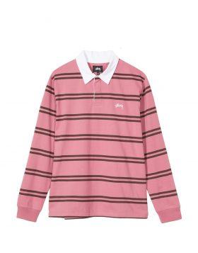 STUSSY – Desmond Stripe L/SL Rugby (Pink)