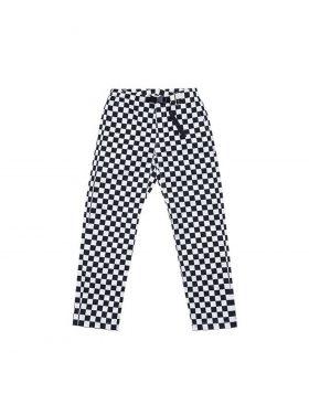 LIFE SUX – CHECK CLIP PANT (White/Black)