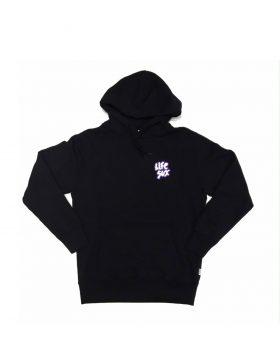 LIFE SUX – Applique Logo Hoodie (Black)