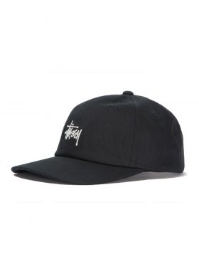 STUSSY – Stock Low Pro Cap (Black)
