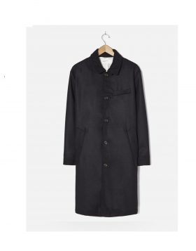 UNIVERSAL WORKS – Overcoat In Black Melton